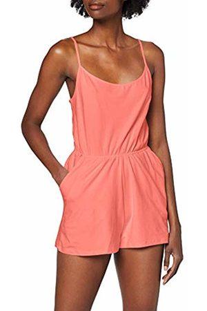 Urban classics Women's Ladies Short Spaghetti Jumpsuit Rosa (Coral 00092)