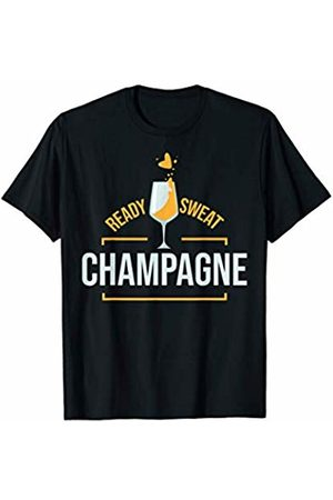 Fitness Workout Apparel and Gifts Ready Sweat Champagne Womens Gym Fitness Workout Gift T-Shirt