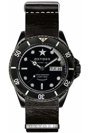 Oxygen Cat 42 Mens Quartz Watch with Dial Analogue Display and Leather Strap EX-DV-CAT-42-NL-BL