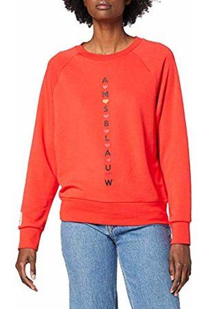 Scotch&Soda Maison Women's AMS Blauw Sweat with Seasonal Artworks Sweatshirt