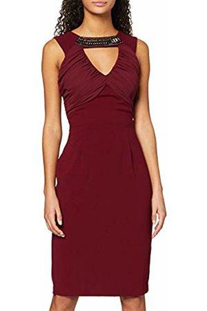Elise Ryan Women Sleeveless Dresses - Women's Neck Trim Pencil Pencil Plain Sleeveless Dress