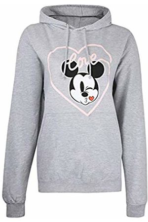 Disney Women's Mickey Love KISS Hoodie Hooded Sweatshirt