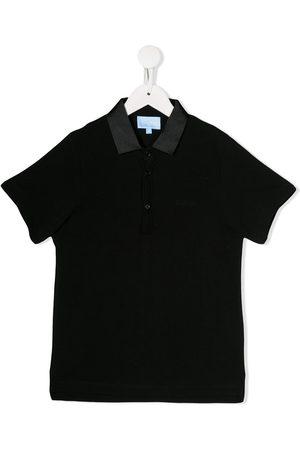 Lanvin Metallized collar polo shirt