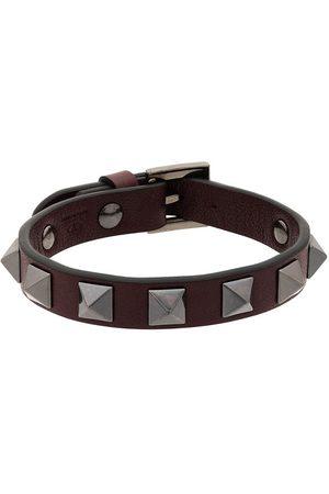 VALENTINO GARAVANI Burgundy Rockstud Bracelet