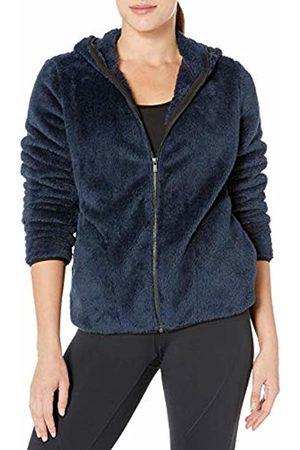 CORE Cozy Teddy Bear Fleece Yoga Full-zip Hoodie Jacket Navy