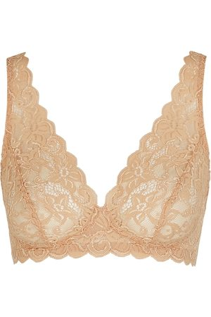 Hanro Women Bras - Moments Sand Lace Soft-cup Bra