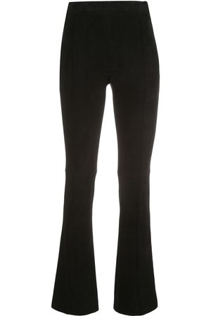 Adam Lippes Women Trousers - Kick cropped suede trousers