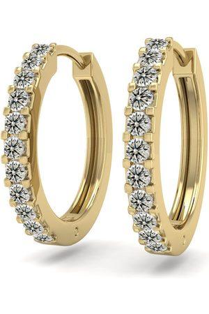 SuperJeweler 1/5 Carat Diamond Men's Hoop Earrings in 14K (2.10 g), K/L