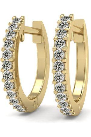 SuperJeweler 1/8 Carat Diamond Men's Hoop Earrings in 14K (1.90 g), K/L