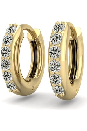 SuperJeweler 1/4 Carat Diamond Men's Hoop Earrings in 14K (2.70 g), K/L
