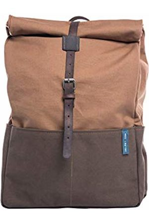 Zelo21 ABBRACCIAMI rolltop Backpack in Canvas and Leather and Tobacco.