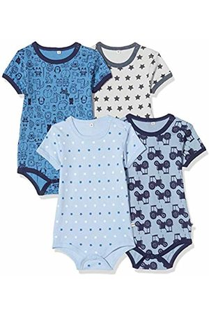 Pippi Pack of 4 Children's Bodysuit with Print Short Sleeves Age 2-3 Years 3820