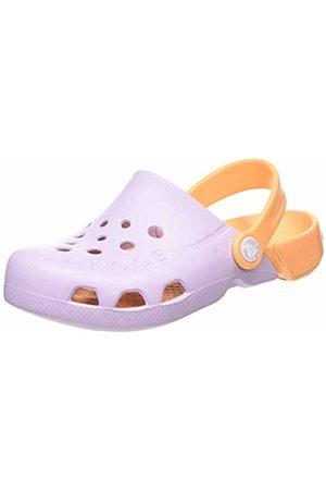 Crocs Unisex Kid's Electro Clogs, (Lavender/Cantaloupe 5PK)
