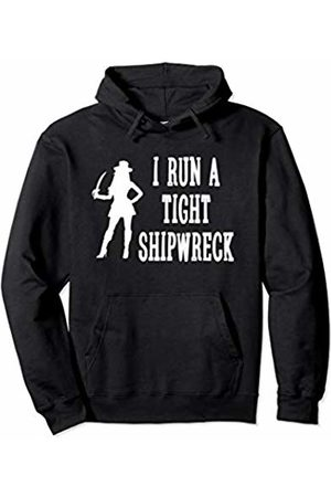 Cute & Funny Mom Gifts & Apparel I Run A Tight Shipwreck With Female Pirate Funny Mom Pullover Hoodie