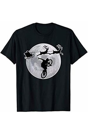 Best Gift Ideas For Retro BMX & Bicycle Tees BMX Christmas Pajamas Santa Gift For Bike Racing Riders Mens T-Shirt
