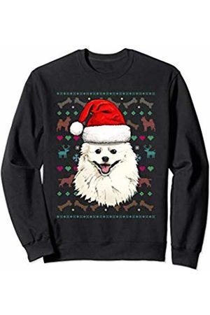 Wowsome! American Eskimo Ugly Christmas Dog Santa Hat Xmas Boys Kids Sweatshirt