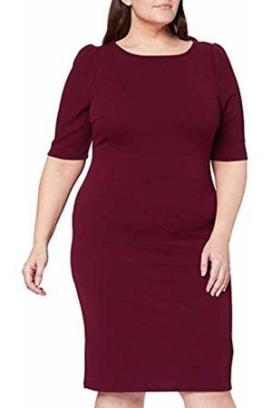 Dorothy Perkins Curve Women's Berry Textured Bodycon Dress
