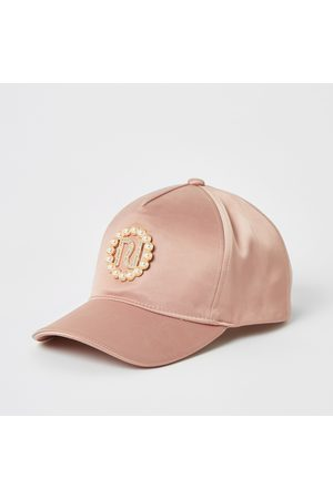 River Island Girls RI pearl embellished cap