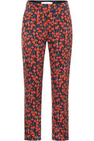Victoria Victoria Beckham Women Formal Trousers - Cherry-print cigarette pants