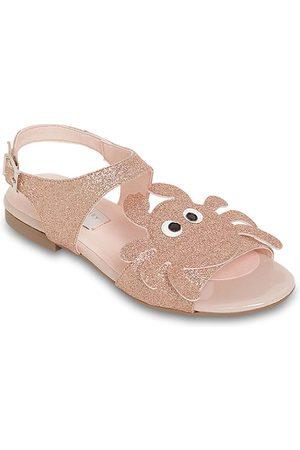 Stella McCartney Faux Leather Sandals W/ Glitter Crab