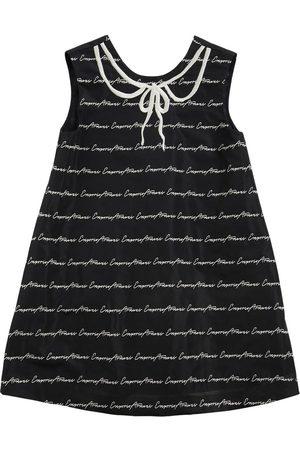 Emporio Armani Logo Jacquard Taffetà Party Dress
