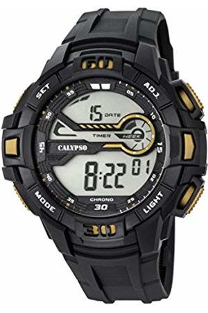 Calypso Men's Digital Watch with LCD Dial Digital Display and Plastic Strap K5695/4