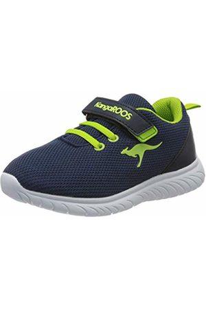 KangaROOS Unisex Babies' Ki-inlite Ev Low-Top Sneakers, (Dk Navy/Lime 4054)