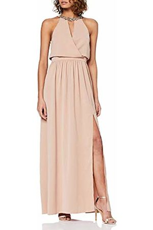 Little Mistress Women's Tabitha Hand-Embellished Halter Maxi Dress Party