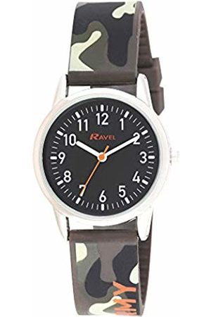 Ravel Army Camouflage Silicone Children's Easy Read Watch