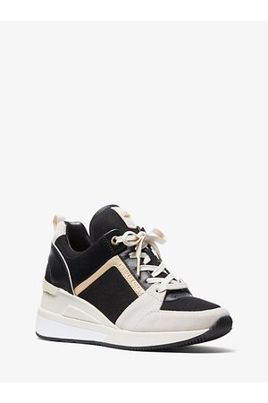 Michael Kors Georgie Tri-Color Mixed-Media Trainer