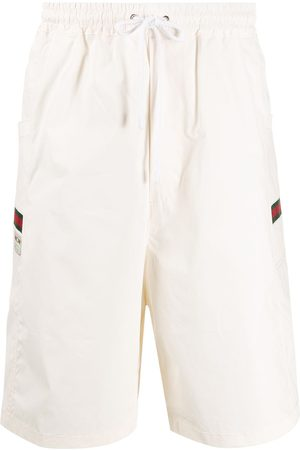 Gucci Logo patch swim shorts - Neutrals