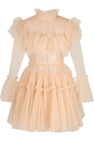 Khaite Paula ruffled dress - Neutrals