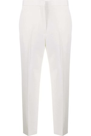 Jil Sander High-rise cropped tailored trousers - Neutrals