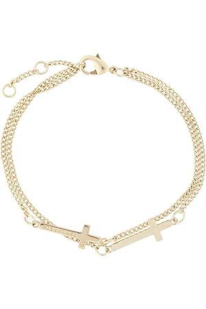 Dsquared2 Double cross bracelet - Metallic