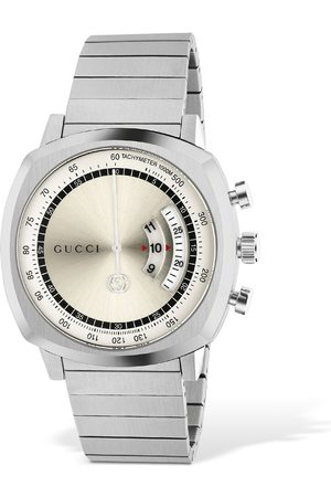 Gucci Men Watches - Grip Lg40 Stainless Steel Watch