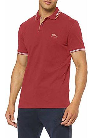 HUGO BOSS Men's Paul Curved Polo Shirt, (Dark 653)