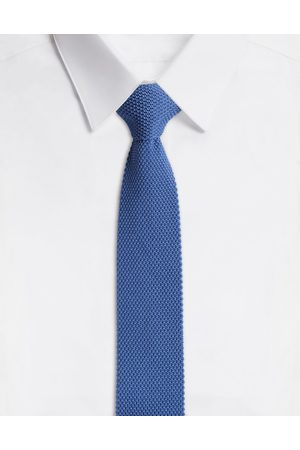 Dolce & Gabbana Men Ties - Ties and Pocket Squares - TIE IN SILK TRICOT FABRIC