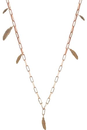 The Alkemistry Kismet By Milka 14ct Rose Gold Six Feathers Links Chain Necklace