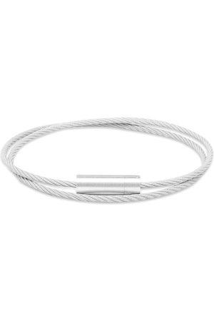 Le Gramme Brushed Double Cable Bracelet