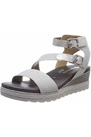 Remonte Women's D6351 Sling Back Sandals, (Silber/Silber 92)