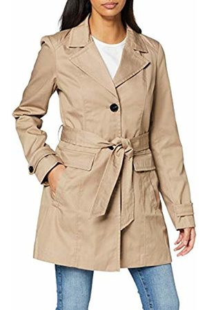 Vero Moda Women's Vmeva Abby 3/4 Trenchcoat Noos Coat, Mink