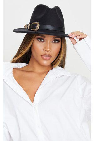 PRETTYLITTLETHING Western Buckle Trim Fedora Hat