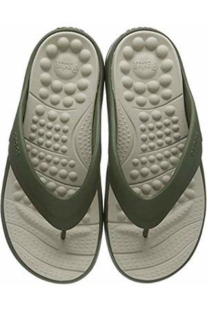 Crocs Flip Flops - Unisex Adult's Reviva Flip Flops, (Army /Cobblestone 3tq)