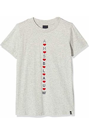 Scotch&Soda Girl's Basic Tee with Various Blauw Artworks Sports Tank Top