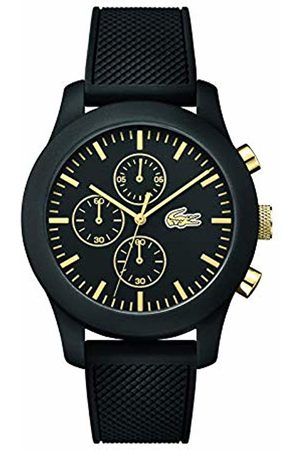 Lacoste Mens Quartz Watch, Chronograph Display and Silicone Strap 2010826