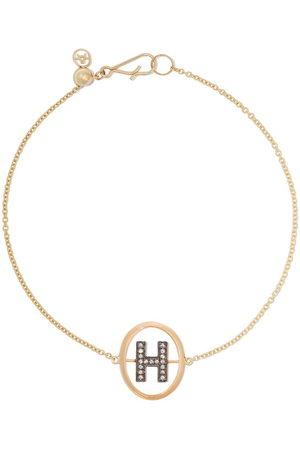 ANNOUSHKA 18kt diamond initial H bracelet - 18ct