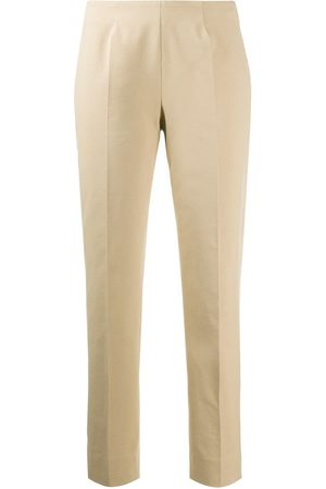 PIAZZA SEMPIONE Tapered mid-rise trousers - Neutrals