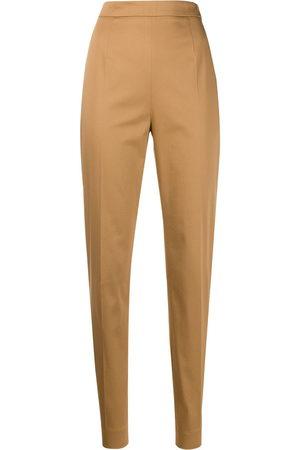 Prada High-rise slim-fit trousers - Neutrals