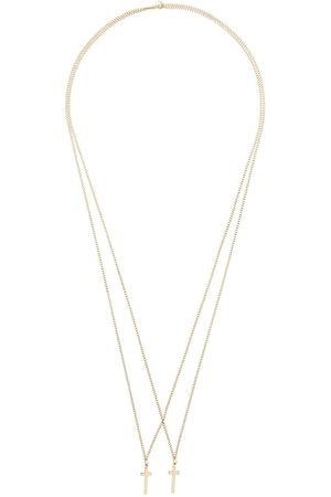 Dsquared2 Men Necklaces - Double cross pendant necklace - Metallic