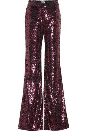 HALPERN High-rise wide-leg sequined pants